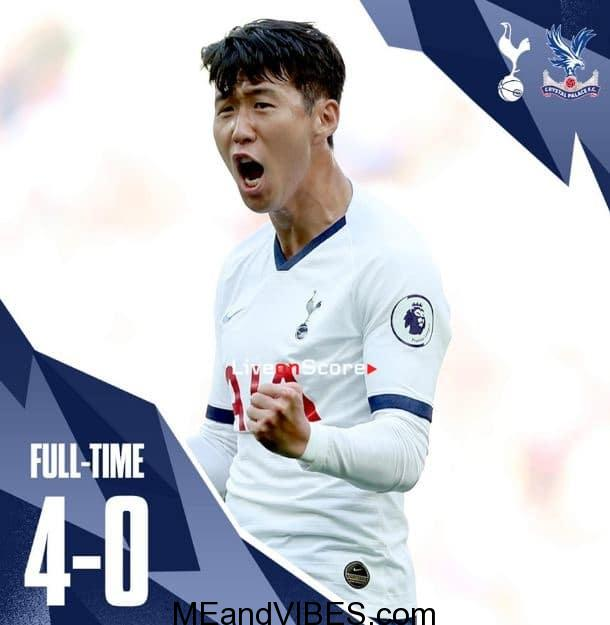 VIDEO: Tottenham vs Crystal Palace 4-0 – All Goals & Highlights