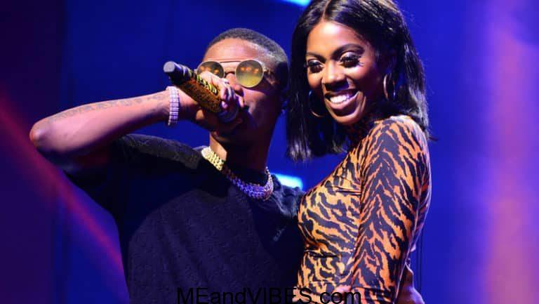 Tiwa Savage Reacts After Wizkid Pressed Her Bum On Stage
