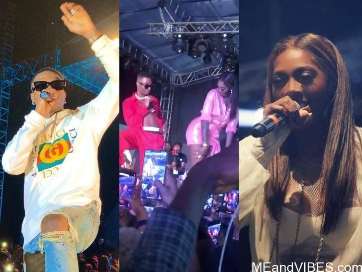 Tiwa Savage Tells Wizkid To Tap Her Buttocks On Stage (Video)