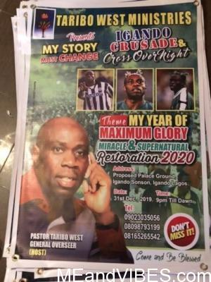 Ex footballer turned General Overseer, Pastor Taribo West holds a crusade (photos)