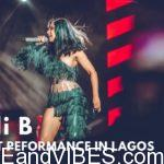 Cardi B's stage performance in Lagos