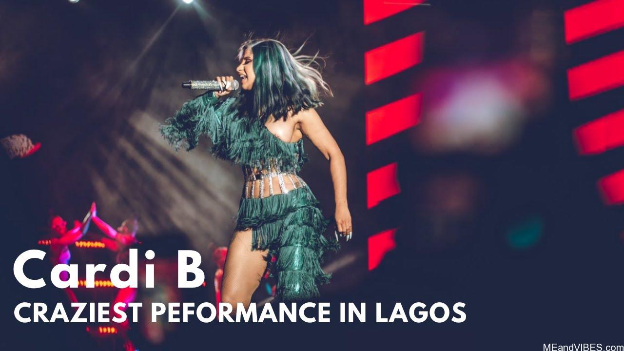Video Of Cardi B's stage performance in Lagos