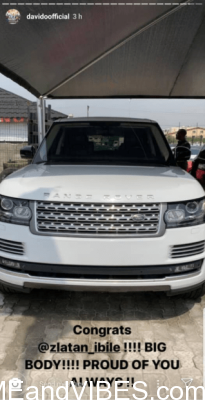 Zlatan acquires a Range Rover for his 25th birthday