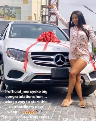 Mercy Eke gets a brand new Mercedes Benz, Check it Out
