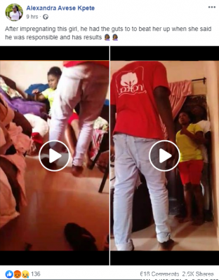 Viral video of a boy beating up his girlfriend (Mp4 Video)