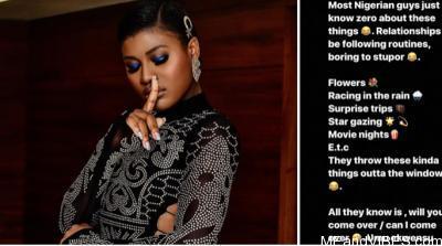 "BBNaija's Alex describes Nigerian men as ""children of the devil"""