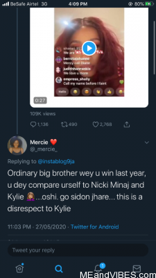 BBNaija Winner, Mercy Eke Slammed By Twitter Users Over Her Viral Video (See Tweets)