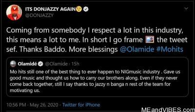 Don Jazzy Replies Olamide's Post/Comment About Mo' Hits Records