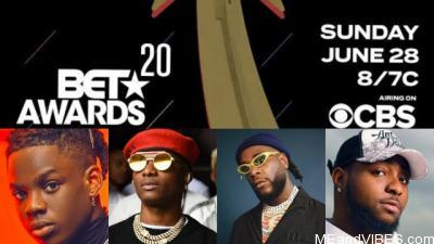 Burna Boy, Wizkid & Rema Get Nominated For 2020 BET Awards || See Full List