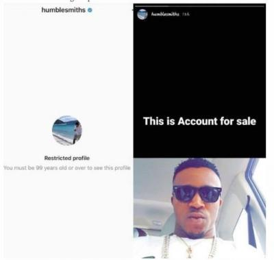 Hacker Auctions Singer, HumbleSmith's Instagram Account For N180k (Photo)