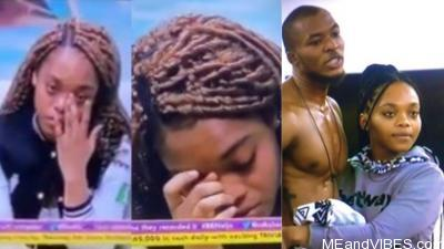 #BBNaija: (Video) Lilo weeps as she tells Big Brother her love interest, Eric, has become a distraction