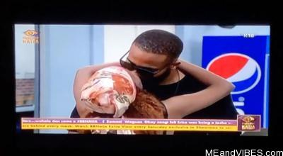 #BBNaija: First kiss in the house between Kiddwaya and Wathoni (video)