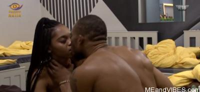 #BBNaija Watch Video Of Eric Kissing Lilo After She Went Tipsy After Thier Night Party