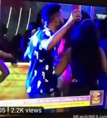 #BBNaija2020: Moment Erica shoved Brighto at the party when he tried to dance with her (Video)