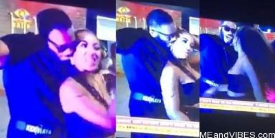 #BBNaija2020: Video: Moment Kiddwaya touched Erica's Breast/Boobs while they were dancing and she angrily walked away. (video)
