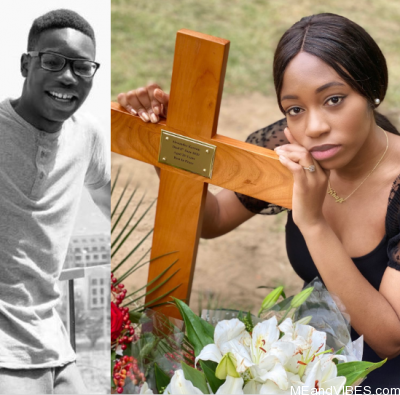 """""""I love you now and forever Alex"""" BBNaija's Khafi writes as she visits her brother's gravesite"""