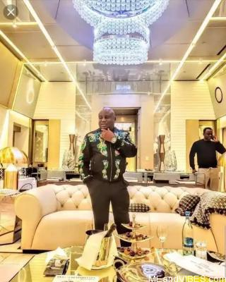 Kiddwaya's Billionaire Dad is a baller ; Check Out His Gold Plated Home With Versace Customized Interiors (Photos)