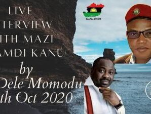 Watch And Download Mazi Nnamdi Kanu Live Interview Video With Dele Momodu