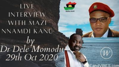Mazi Nnamdi Kanu Live Interview Video With Dele Momodu