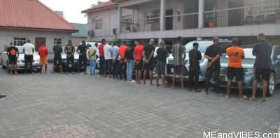 20 suspected internet fraudsters arrested in Imo, phones, laptops, exotic cars recovered (photos)