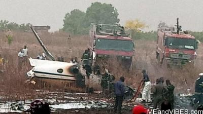 Military plane crashes in Abuja