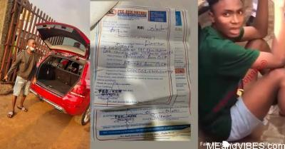 Slay King Davison Osagie Arrested After Posing With A Car He Purchased With Fake Debit Alert