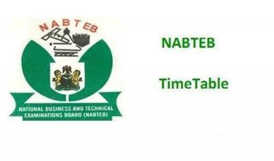 NABTEB Timetable 2021 May/June NBC/NTC [14th June - 9th July 2021]