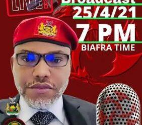 Nnamdi Kanu Live Broadcast Sunday 25/04/2021 (Download & Listen)