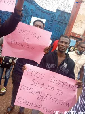 COOU Uli Campus Students Protests Against Hardship And SUG Election Hijacking (Photos) #COOU #Uli